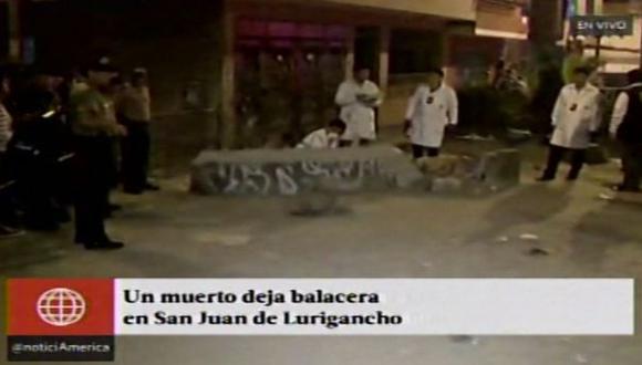 San Juan de Lurigancho: matan de 12 balazos  a joven
