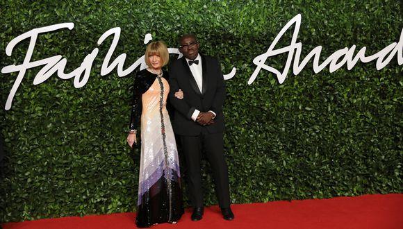 Wintour, llegó a la alfombra roja de los Fashion Awards 2019 con Edward Enninful, editor en jefe de la edición británica de Vogue. (Foto: AFP)