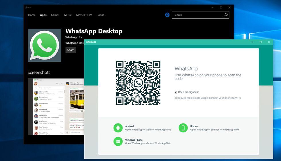 Usar WhatsApp desde el escritorio de la computadora (Foto: MsPowerUser)