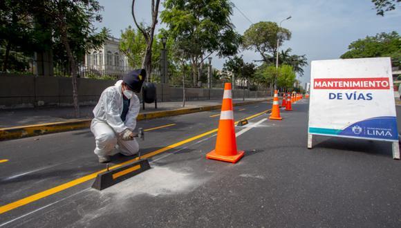 Los trabajos de implementación de las ciclovías están a cargo de la Subgerencia de Transporte No Motorizado. (Foto: Municipalidad de Lima)