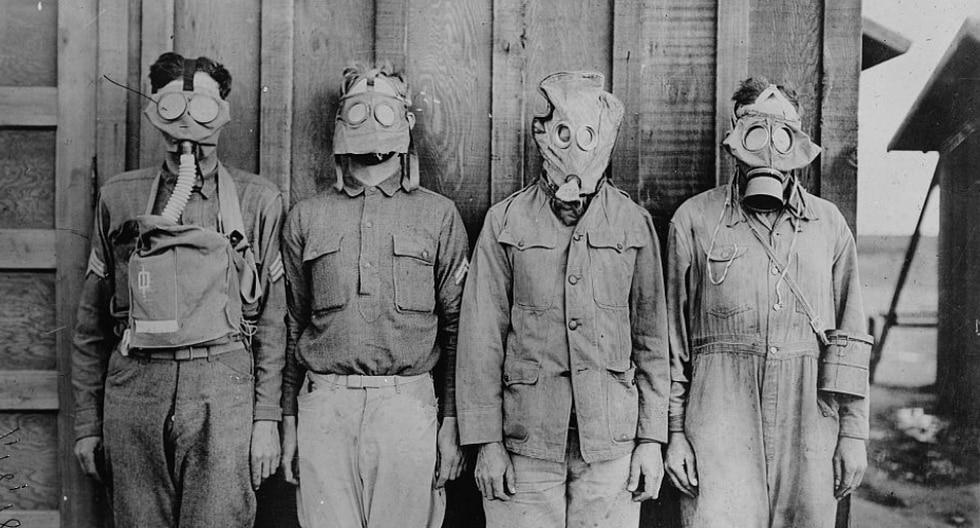 El cloro fue posteriormente sustituido por el fosgeno, un agente más letal que asfixia a sus víctimas varias horas después de la exposición. (Foto: The Library of Congress en Flickr)