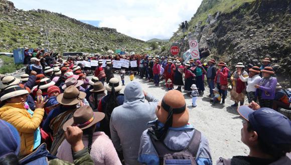 La actividad del proyecto minero Las Bambas generó múltiples bloqueos en el año. (Foto: GEC)