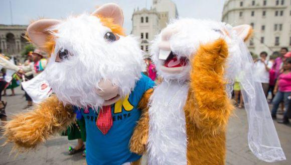 PPKuy se casó en la plaza San Martín [VIDEO]