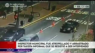 Miraflores: taxista informal atropelló a fiscalizador para escapar de intervención