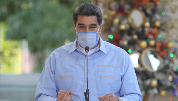 Nicolás Maduro durante la presentación de un balance sobre la covid-19 hoy, en Caracas (Venezuela). (Foto: EFE/PALACIO DE MIRAFLORES).