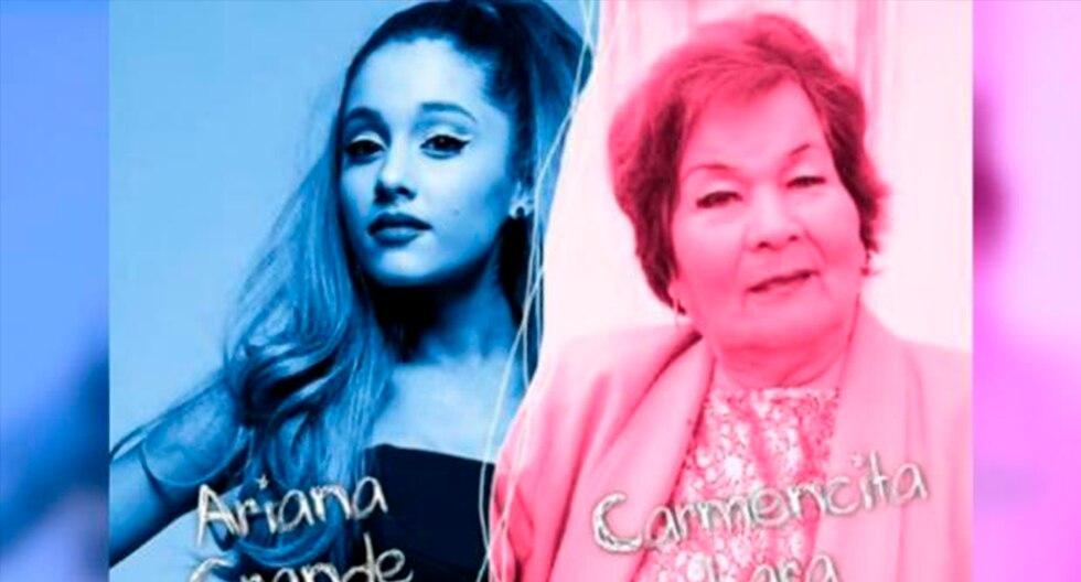 Carmencita Lara y Ariana Grande 'unidas' en un curioso 'mashup'. (YouTube | Tito Silva Music)