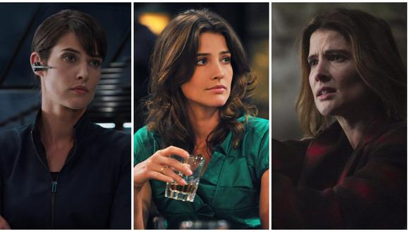 """De izquierda a derecha, Cobie Smulders en """"Avengers"""", """"How I Met Your Mother"""" y """"Stumptown"""". (Fotos: Marvel Studios/ CBS/ ABC)"""