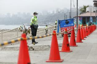Policía Nacional vigila y restringe el ingreso de bañistas durante el fin de semana