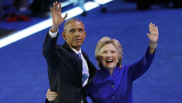 El sorpresivo abrazo entre Obama y Clinton en Filadelfia - 8