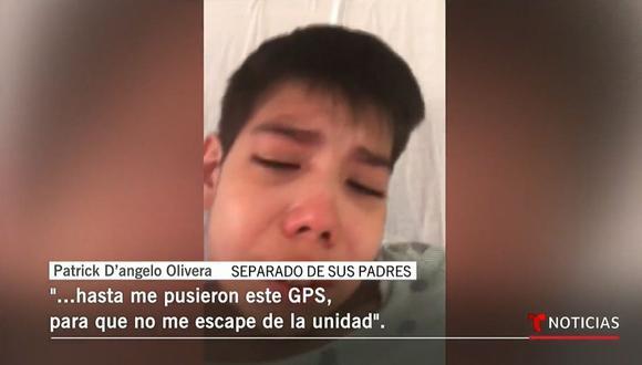 Patrick fue separado de sus padres el pasado 25 de diciembre y teme que no pueda volver a verlos. (Foto: Captura del video de Telemundo).