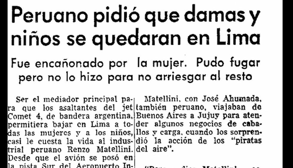En 1970 llega a Lima avión secuestrado por argentinos - 3