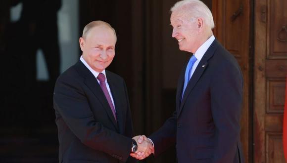 Putin y Biden se reunieron por casi dos horas este miércoles en Ginebra. (EPA).