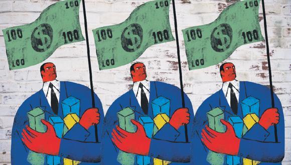 Luces y sombras del neoliberalismo (ilustración: Víctor Aguilar)