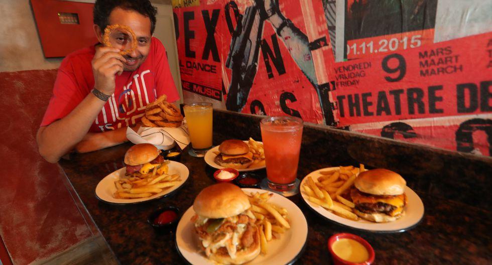Diego Alcántara y Django Burgers. FOTO: Rolly Reyna.