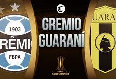 Guaraní vs. Gremio EN VIVO: horario y guía de canales de TV para ver el partido por Copa Libertadores