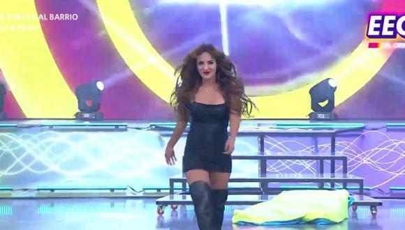 Rosángela Espinoza regresó a EEG y el 'Tribunal' no estuvo feliz con su aparición. (Foto: Captura América TV).