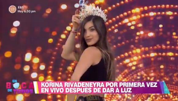 "Korina Rivadeneira se presentó en el programa ""En Boca de Todos"". (Foto: Captura América TV)"