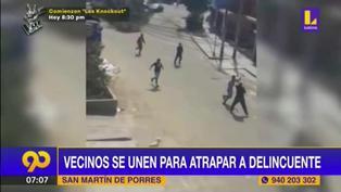 Vecinos se unen para capturar a ladrón en San Martín de Porres