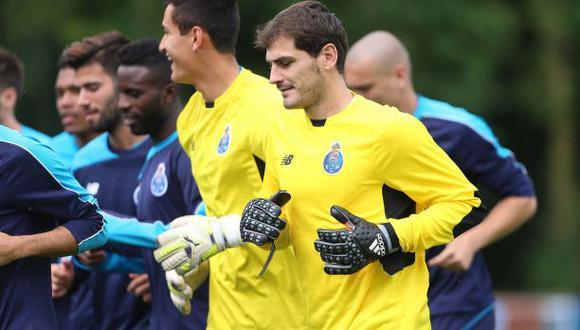 Iker Casillas realizó su primer entrenamiento con el Porto