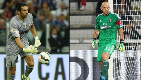 AC Milan vs. Juventus: las buenas atajadas de Buffon y Abbiati