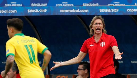Ricardo Gareca ha enfrentado ocho veces a la selección brasileña. Ha sumado dos victorias y seis derrotas. Nunca un empate. Foto:  EFE/Paulo Whitaker.