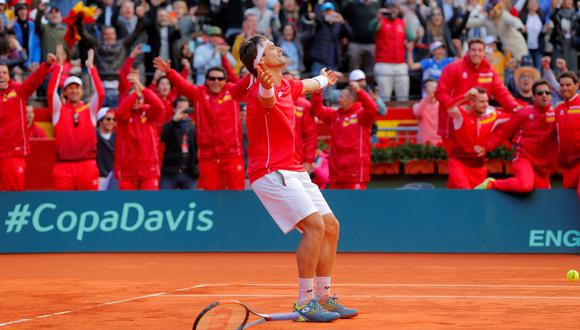 David Ferrer consiguió el punto de la clasificación para España ante Alemania por la Copa Davis. (Foto: Reuters)