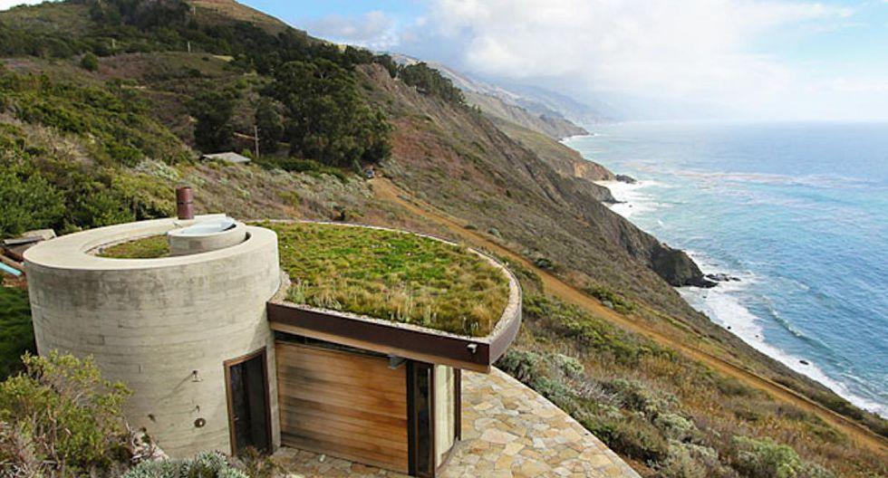 Ubicada en un acantilado de la región Big Sur en California, esta peculiar vivienda está diseñada para albergar a una persona de manera cómoda y auto sostenible. (Foto: Rana Creek / Difusión)