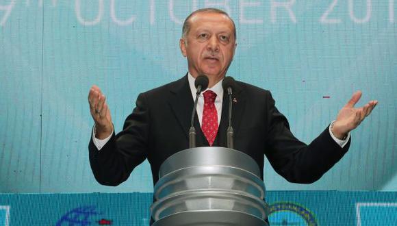 """Erdogan aseguró que su país continuaría actuando para eliminar la """"amenaza"""" que, considera, suponen las milicias kurdas para Turquía. (Foto: EFE)"""