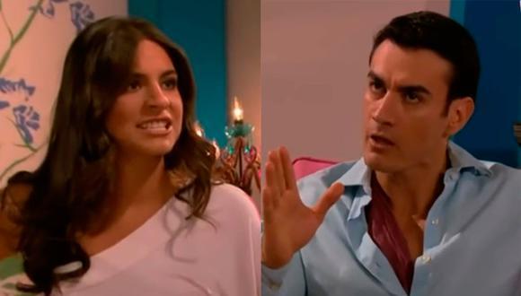 """Ana Brenda y David Zepeda en """"Sortilegio"""". Ambos interpretaron a los villanos de la telenovela (Foto: Televisa)"""
