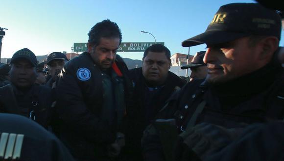 Martín Belaunde Lossio fue extraditado desde Bolivia y fue entregado por el propio presidente Evo Morales a las autoridades peruanas en la frontera de Desaguadero. (Foto: Lino Chipana/El Comercio)