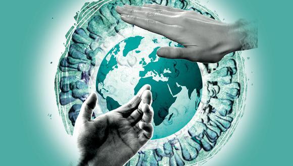 """""""En el mundo pospandemia de COVID-19 que nos va a tocar vivir, al menos hasta que se tenga una vacuna efectiva y accesible, el dar la mano es una costumbre que podría desaparecer"""".(Ilustración: El Comercio)"""