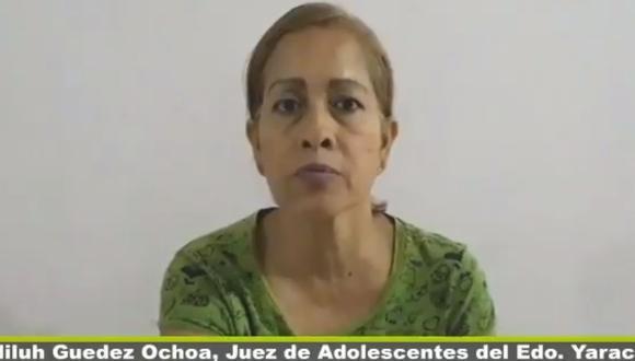 Venezuela: Jueza Ediluh Guédez denuncia presión del chavismo para detener niños en marchas contra Nicolás Maduro | VIDEO