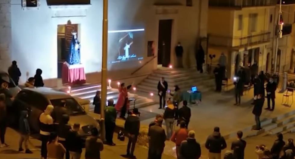 San Marco in Lamis, con 15.000 habitantes, es una ciudad conocida por su tradicional procesión de la Madona el Viernes Santo. (Captura de video - YouTube)
