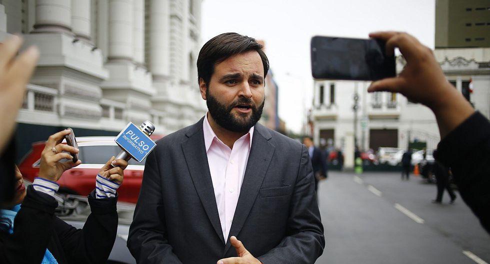 """El congresista del Partido Morado, Alberto de Belaunde, consideró como """"una equivocación"""" la programación de una sesión del pleno en medio de las medidas impuestas por el gobierno para enfrentar el coronavirus. (Foto: GEC)"""