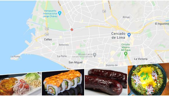 En este artículo, incluimos un mapa interactivo donde podrá encontrar los restaurantes incluidos en la lista, con información útil para su pedido. Fotos: Google/ Cortesía.