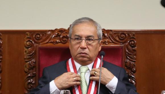 Pedro Chávarry participó en la Junta de Fiscales Supremos. (Foto: GEC)