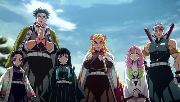 """Estos son los Hashira o Pilares de """"Demon Slayer"""", los guerreros más fuertes de la organización. (Foto: Crunchyroll)"""