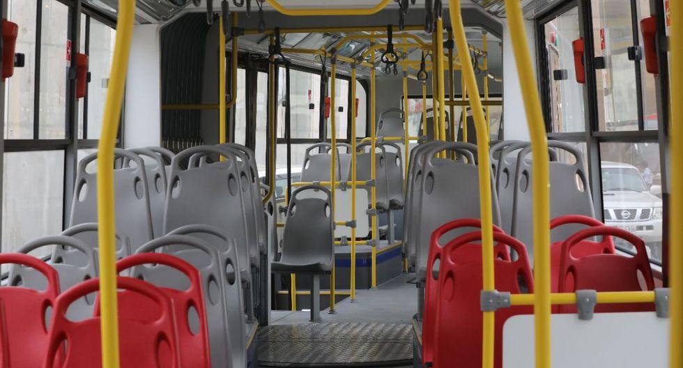 Estos nuevos buses acoplados cuentan con cámaras de video, control de velocidad a la vista y trasladará a más de 150 personas, quienes tendrán ese servicio como una alternativa para llegar a sus destinos de una manera más rápida y segura. (Difusión)
