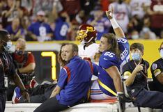 No quisieron repetirlo en la TV: la terrible lesión de un jugador del New York Giants de la NFL