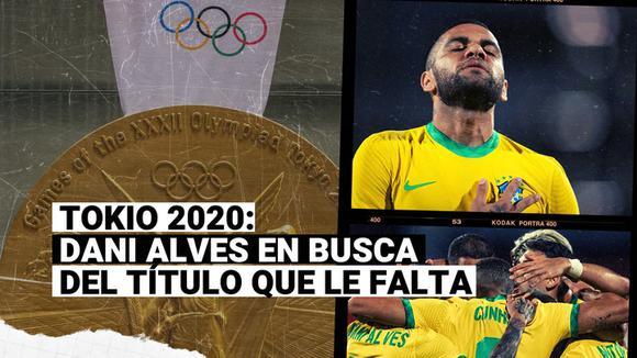 Tokio 2020: Dani Alves liderará a la selección brasileña en busca del galardón que le falta