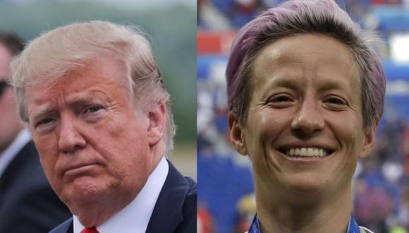 La polémica entre Rapinoe y Trump no se ha terminado. (Fotos: Agencias)