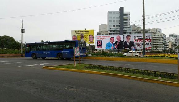 Paradero final del corredor azul no cambió en Miraflores