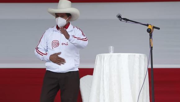 Pedro Castillo reiteró que es el único vocero de la campaña electoral por Perú Libre. (Foto: El Comercio)