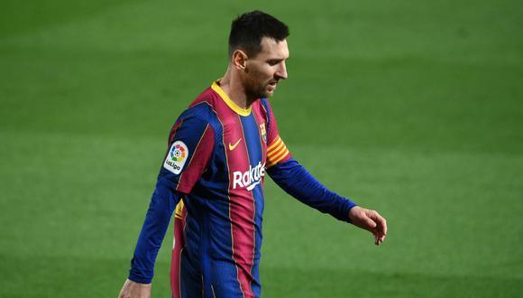 Lionel Messi tuvo un cruce con los suplentes del Athletic Club. (Foto: AFP)