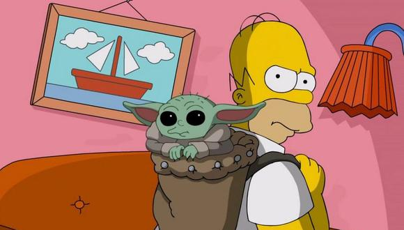 Los Simpson y Baby Yoda se encuentran en divertido corto de Disney Plus (Foto: Disney+)