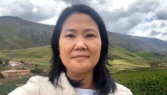 Keiko Fujimori también se pronunció sobre la decisión del TC respecto a la libertad de su padre, Alberto Fujimori.. (Captura de video)