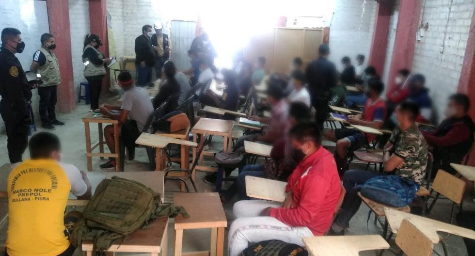 Sullana: 26 alumnos recibían clases presenciales en academia premilitar y prepolicial (Foto: Municipalidad de Sullana)