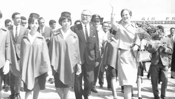 """La princesa Margarita declaró a su llegada a Lima que aún no tenía un """"príncipe azul"""". (Foto: GEC Archivo Histórico)"""