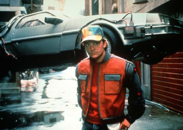 "Michael J. Fox en ""Back to the future 2""."
