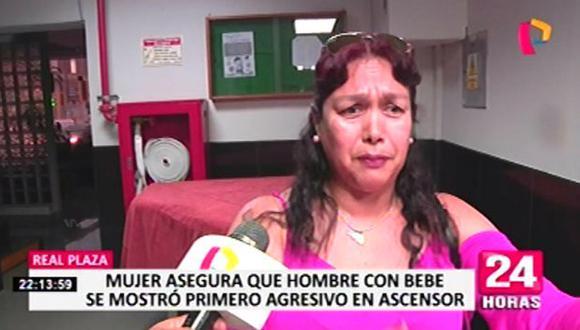De acuerdo a Olga Beatriz Poblet Sullaza, fue el padre de familia, identificado como Christian García, el que supuestamente se habría comportado de manera agresiva. (24 Horas)